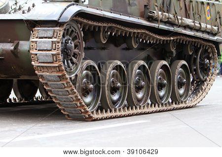 Caterpillars of a tank