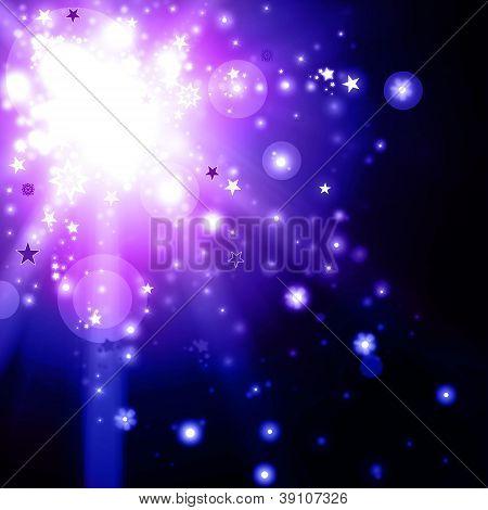Violet Xmas Lights Background