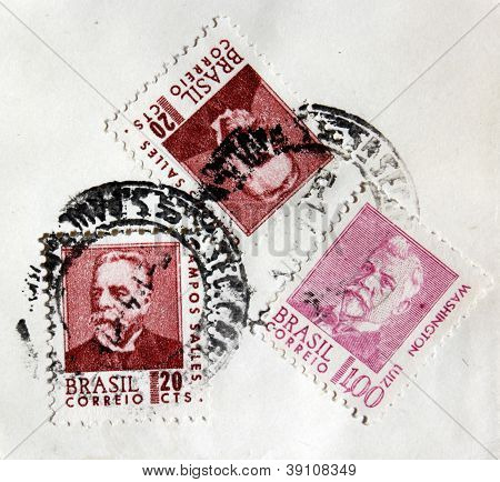 Three Brazil Stamps
