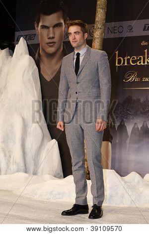 BERLIN, GERMANY - NOV 16: ROBERT PATTINSON at The Twilight Saga: Breaking Dawn - Part 2 - premiere in Berlin, Germany on November 16, 2012