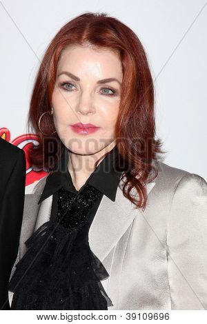 LOS ANGELES - NOV 15:  Priscilla Presley arrives for the 26th American Cinematheque Award Honoring Ben Stiller at Beverly Hilton Hotel on November 15, 2012 in Beverly Hills, CA