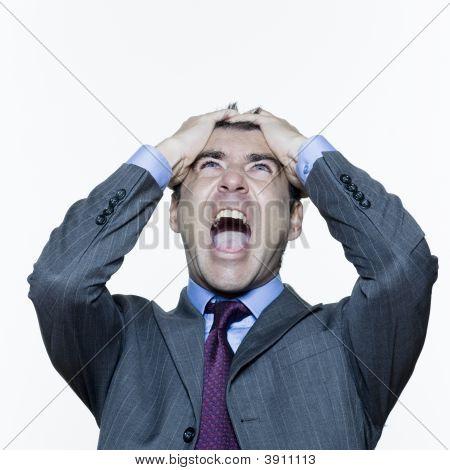 Anguish Expressive Man