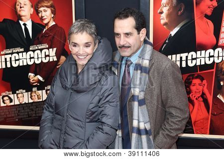 NEW YORK-NOV 18: Actor Tony Shalhoub and wife Brooke Adams attend the premiere of