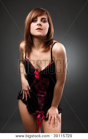 Beautiful Woman Wearing Negligee