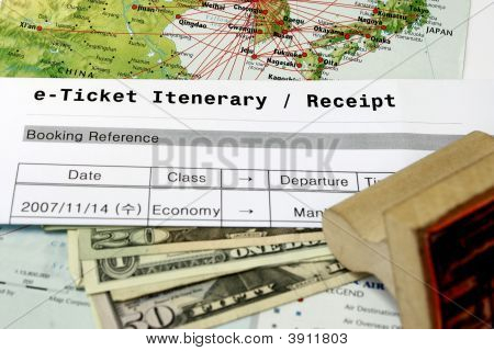 Airline Ticket Reiseroute