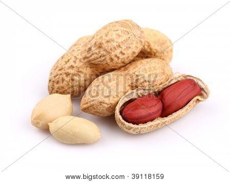 Peanuts in closeup