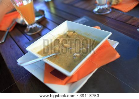 Fish Soup On Plate