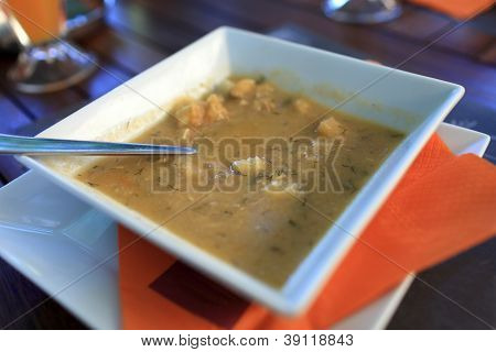 Plate Of Fish Soup