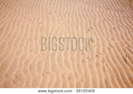 Sand Texture On Beach Splash With Water