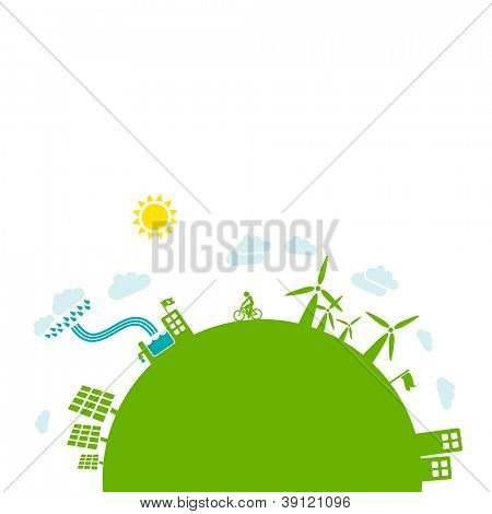 Green energy - sustainable development concept