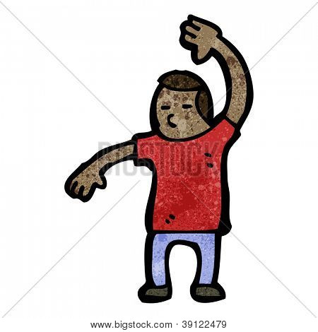 cartoon karate chop