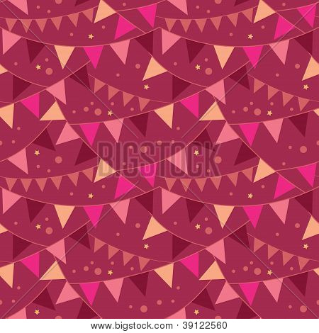 Christmas Decorations Flags Seamless Pattern Background