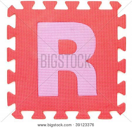 Rubber Alphabet R Isolated
