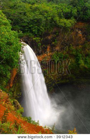 Wailua Falls In Kauai Hawaii