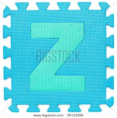 Rubber Alphabet Z Isolated