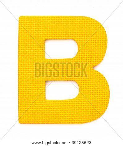 Rubber Alphabet B Isolated