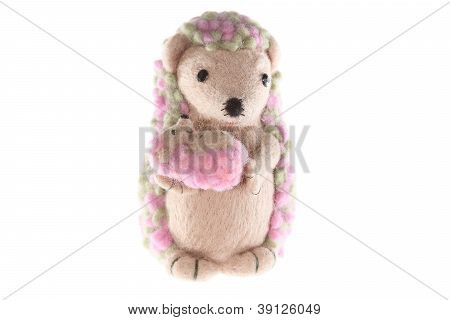 Handmade Hedgehog Toy Mother