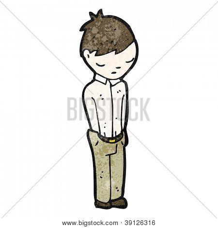 cartoon boy with hands in pockets