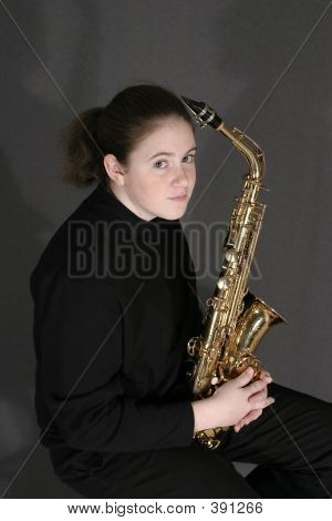 Student With Alto Sax