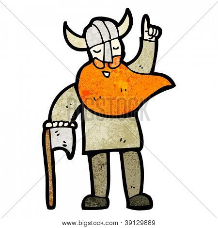 cartoon viking warrior with idea