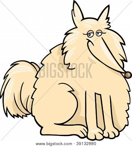 Eskimo Hund Cartoon-Illustration