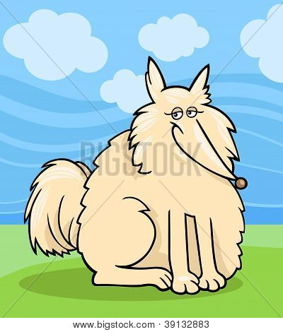 Eskimo Hund Cartoon Abbildung