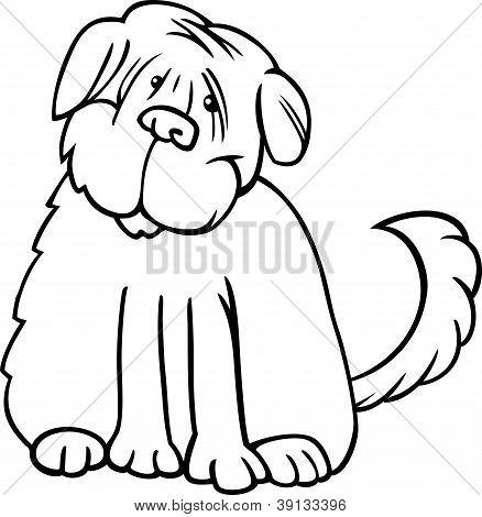 Terrier Shaggy dibujos animados para colorear