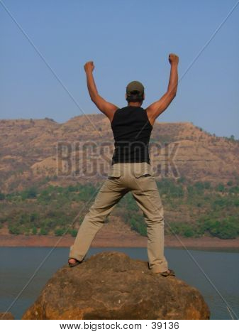 A Jubilating Man