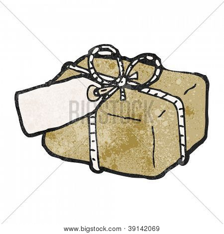 cartoon parcel