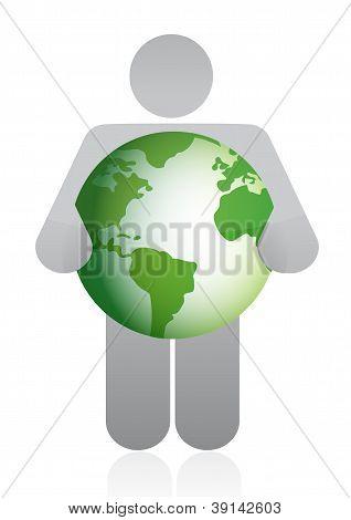 Icon Holding A Globe