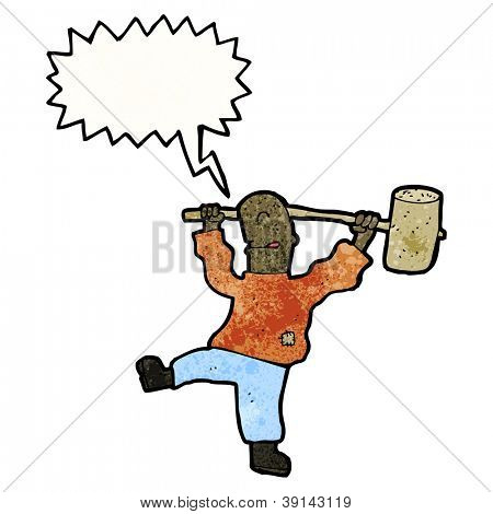 cartoon man with mallet