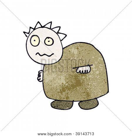 desenho de criança de um ogro halloween