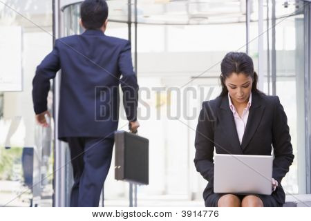 Middle Eastern  / Business With Woman On Laptop