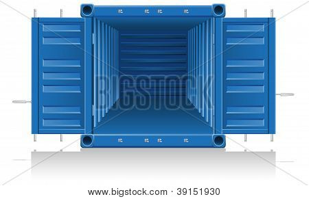 Cargo Container Illustration