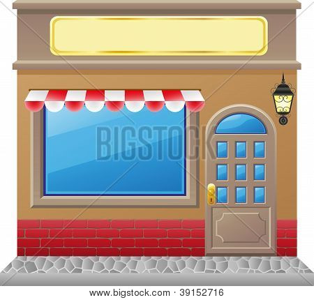 Shop Facade With A Showcase