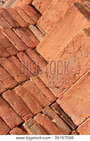 Piled Adobe Bricks