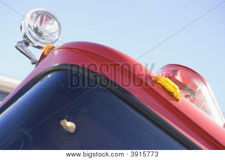 Close Up Of Fire Engine Lights
