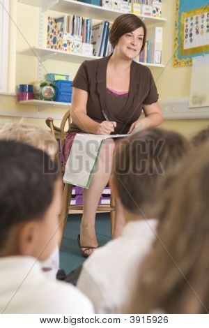 Teacher Taking Class Register