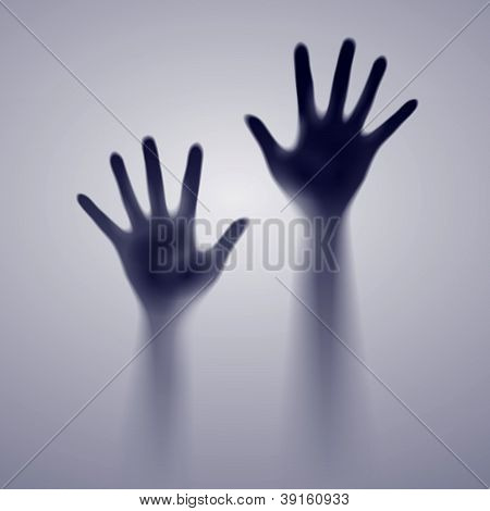 Two open dark hands