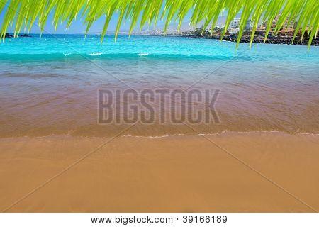 Las Americas Beach Adeje coast Beach in south Tenerife at Canary Islands [photo-illustration]