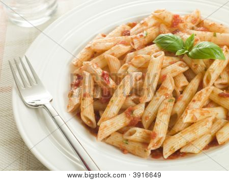 Plate Of Penne Arabriatta