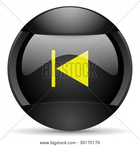 prev round black web icon on white background