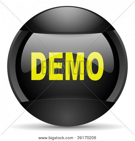 demo round black web icon on white background