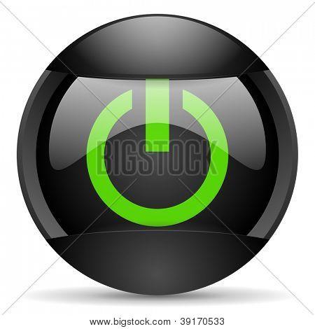 power round black web icon on white background