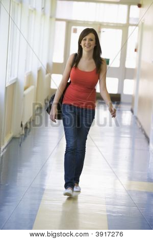 Student Walking In Corridor