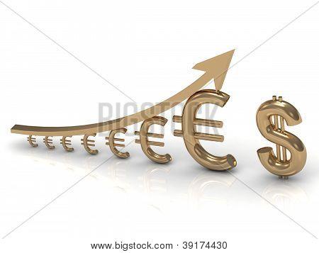 Illustration Of Increasing Profits Euro