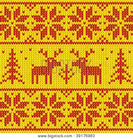 Orange sweater with deer vector ornament