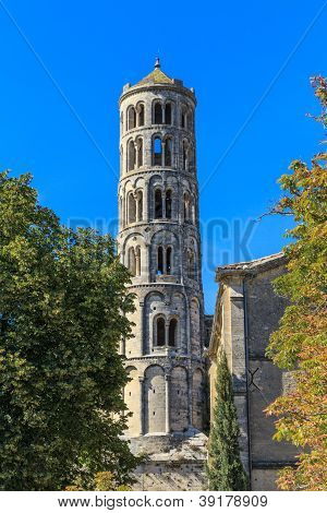 Uzes, Fenestrelle Tower, Cathedral Of St. Theodore, Languedoc Roussillon, France