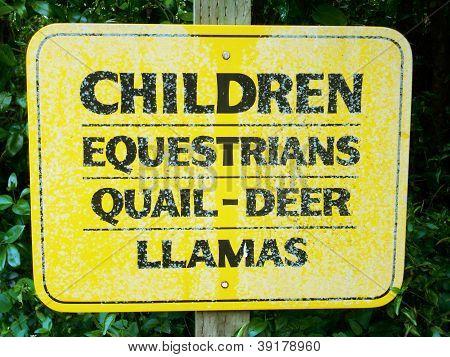 Children, Equestrians, Quail, Deer, Llamas