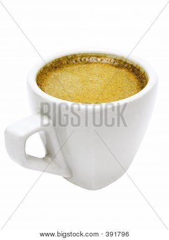 weißen Tasse Espresso w / Pfad